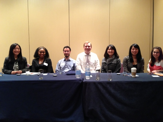 Symposium Presentation {Research & Technology} @ the Eastern Psychological Association {March, 2013} {Dr. V's Research Team (left to right): Suyi Liu, Dena Whittle, Michael McGrath, Dr. V, Yeonjoo Son, Debbie Truong, & Jenn Angelone}