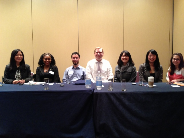 Symposium Presentation {Research & Technology} @ the Eastern Psychological Association {March, 2013}{Dr. V's Research Team (left to right): Suyi Liu, Dena Whittle, Michael McGrath, Dr. V, Yeonjoo Son, Debbie Truong, & Jenn Angelone}