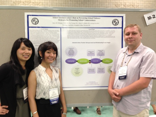 Poster Presentation @ the American Psychological Association {July, 2013} {Dr. V's Research Team (left to right): Debbie Truong & Suyi Liu}