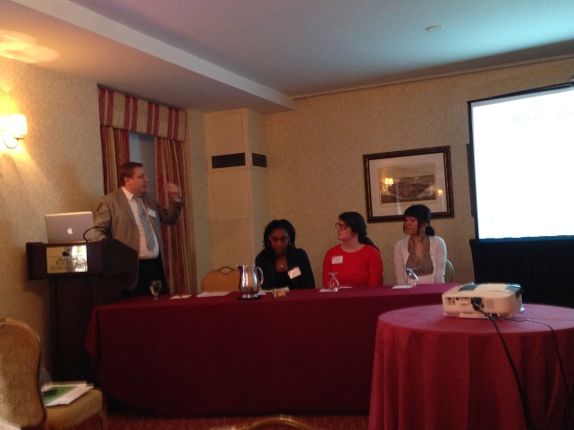 Paper Presentation @ the Eastern Psychological Association {March, 2014} {left to right: Dr. V, Dena Semonia, Katherine Schmidt, & Suyi Liu}